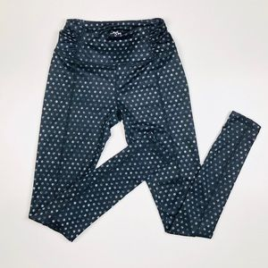 Maurices Black Polka Dot Leggings XS